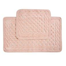 LARA fürdőszobaszőnyeg szett -  rózsaszín