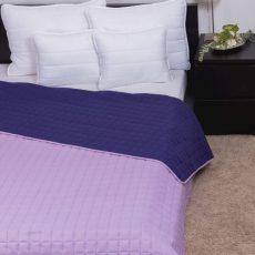 NATURTEX Laura kétoldalas ágytakaró - lila - 235x250cm