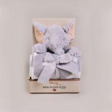 NATURTEX Szürke gyermekpléd plüss elefánttal