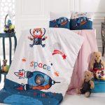 Space gyermek ágyneműhuzat - pamut