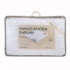 NATURTEX Szatén-pamut, 100% pamut Töltetű Paplan - Nyári 600g