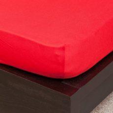 NATURTEX gumis jersey lepedő - piros- 100x200 cm