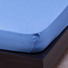 NATURTEX gumis jersey lepedő - középkék - 100x200 cm