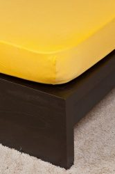 NATURTEX gumis jersey lepedő - kukoricasárga- 100x200 cm