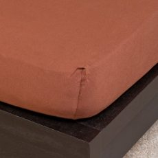 NATURTEX gumis jersey lepedő - csokibarna - 160x200cm