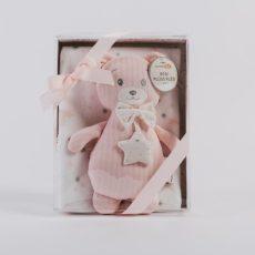 NATURTEX Baby Pléd Rózsaszín Macival 100x75 cm