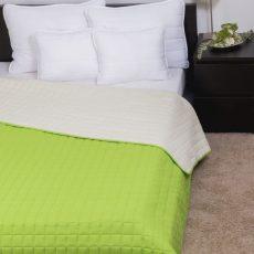 NATURTEX Laura kétoldalas ágytakaró - zöld - 235x250cm