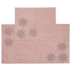 FLOWER csúszásgátlós fürdőszobaszőnyeg szett - rózsaszín