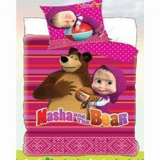 MÁSA ÉS A MEDVE - pink - gyermek ágyneműhuzat - Cotton Home 0386b8eb18