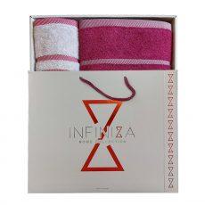 Exclusive DÍSZDOBOZOS Törölköző szett - pink/halványlila