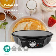 Nedis Francia óriáspalacsinta sütő   30 cm   Fekete