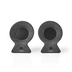 Nedis Szövetburkolatú Bluetooth®-hangszóró | 2×15 W | Akár 4 Órányi Lejátszási Idő | Valódi Vezeték Nélküli Sztereó (TWS) | Antracit/Fekete
