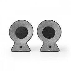 Nedis Szövetburkolatú Bluetooth®-hangszóró   2×15 W   Akár 4 Órányi Lejátszási Idő   Valódi Vezeték Nélküli Sztereó (TWS)   Szürke/Fekete