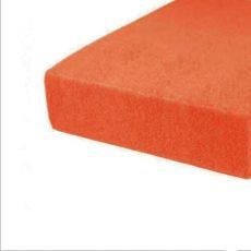 Frottír gumis lepedő - orange - 100x200 cm