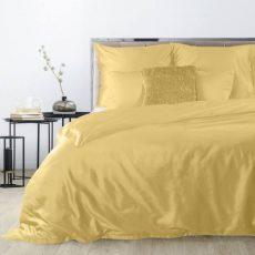 NOVA makó-szatén ágyneműhuzat - mustársárga