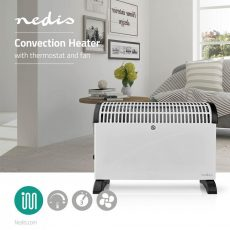 Nedis Radiátor | Hőfokszabályozó | Ventilátor Funkció | 3 Fokozat | 2000 W | Fehér