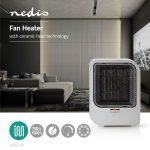 Nedis Kerámia fűtőventilátor | 750 és 1500 W | Szürke