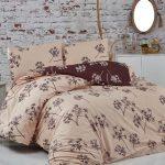 Idil pamut ágyneműhuzat - barna - kétszemélyes (díszdobozos)