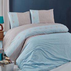 Hera pamut ágyneműhuzat - kék - kétszemélyes (díszdobozos)