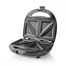 Nedis Multifunkciós Grillsütő   Szendvics/Gofri/Grill   800 Watt   Fekete