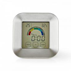 Nedis Páratartalom-mérő | Hőmérő | Óra | Érintőképernyő
