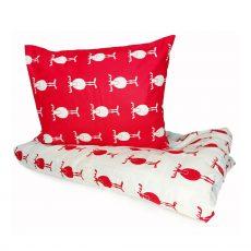 Mia mhm¿  Rudolf - Red/White - gyermek ágyneműhuzat - 100% PAMUT