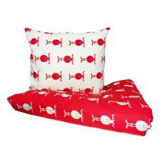 Mia mhm¿  Rudolf - White/Red - gyermek ágyneműhuzat - 100% PAMUT