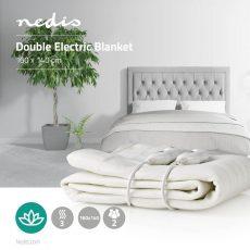 Nedis kétszemélyes elektromos ágymelegítő, takaró - fehér (PEBL110CWT2)