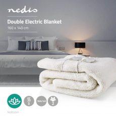 Nedis Kétszemélyes elektromos ágymelegítő, takaró - fehér (PEBL120CWT2)