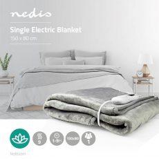 Nedis Elektromos ágymelegítő, takaró - Szürke (PEBL130CWT1)