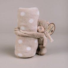 NATURTEX Gyermekpléd plüss macival (bézs-pöttyös) 100x75 cm