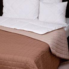 NATURTEX Laura kétoldalas ágytakaró - barna-drapp - 140x240 cm