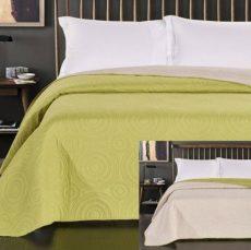 NATURTEX EMILY ágytakaró - bézs - zöld 235x250 cm