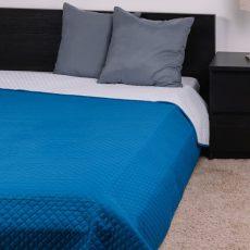 NATURTEX EMILY ágytakaró - kék-fehér - 235x250 cm