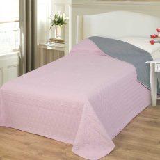 NATURTEX EMILY ágytakaró - rózsaszín/szürke - 235x250 cm