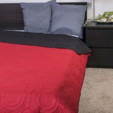NATURTEX EMILY ágytakaró - piros-fekete - 235x250 cm
