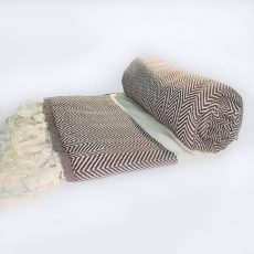 HAMAM strandlepedő - 180x100cm - barna