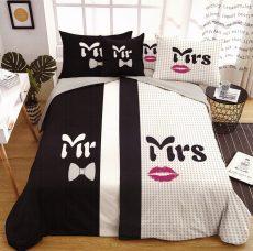 Mr & Mrs ágyneműhuzat garnitúra -  6 részes